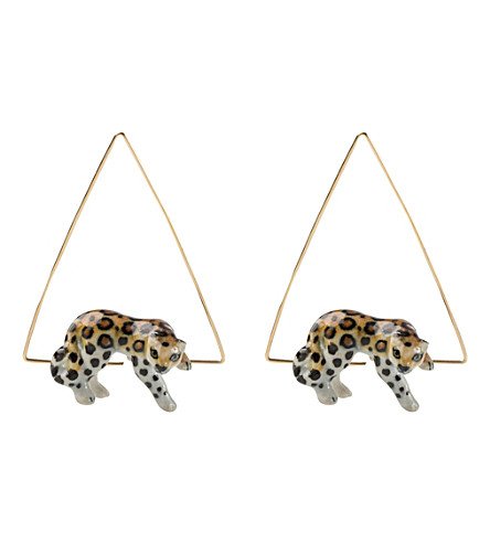 THE CONRAN SHOP Nach Bijoux leopard earrings