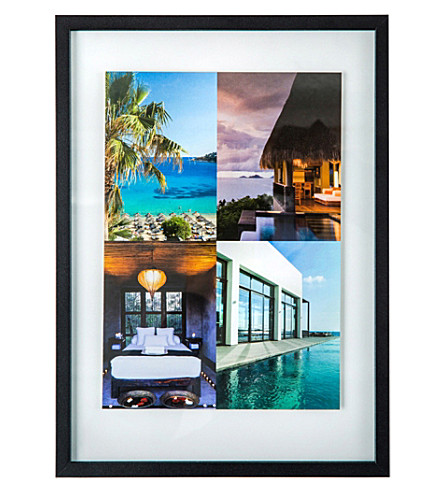 THE CONRAN SHOP Aluminium and rubber band picture frame A4