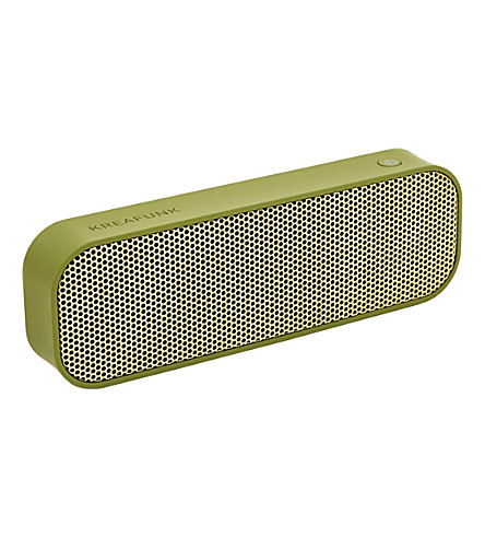 THE CONRAN SHOP aGroove army green Bluetooth speaker