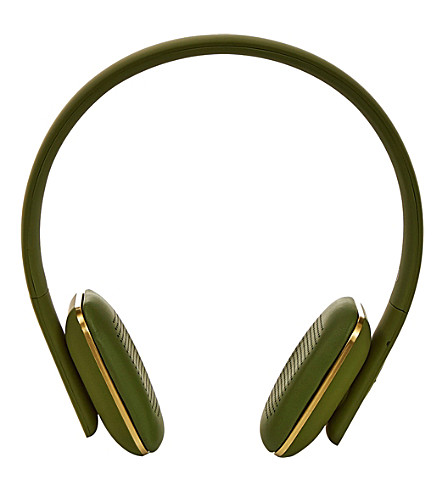 THE CONRAN SHOP aHead army green over-ear headphones