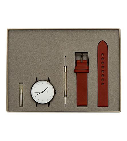 THE CONRAN SHOP INSTRMNT 02-A stainless steel and leather watch