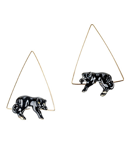 THE CONRAN SHOP Nach Bijoux Black Panther earrings