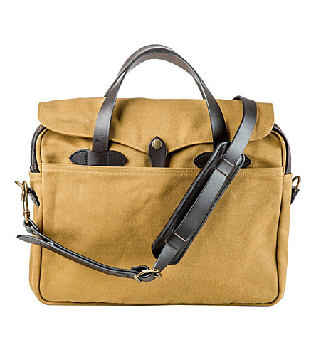 THE CONRAN SHOP Filson Original twill and leather briefcase