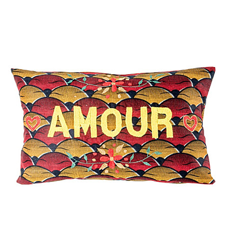 THE CONRAN SHOP Amour embroidered cushion cover