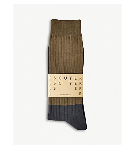 THE CONRAN SHOP Colour Block cotton-blend socks