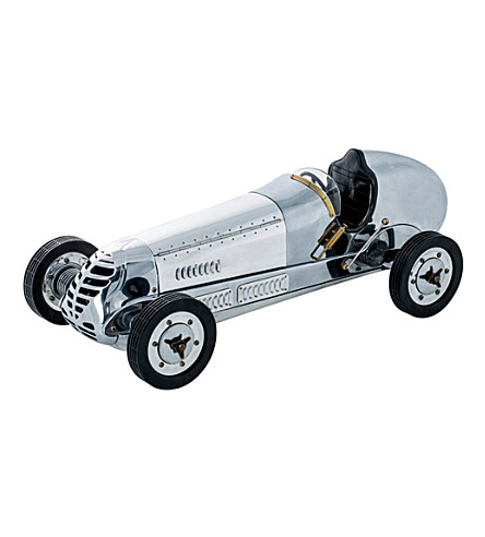 THE CONRAN SHOP Authentic Models BB Korn Tether Car Racer model (Silver