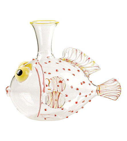 THE CONRAN SHOP Massimo Lunardon Guppy glass fish decanter (Multi-coloured