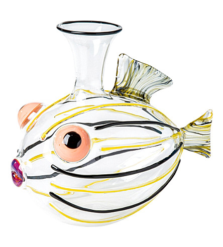 THE CONRAN SHOP Massimo Lunardon Cardinal glass fish Decanter (Multi-coloured