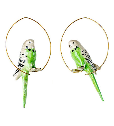 THE CONRAN SHOP Nach Bijoux Budgerigar Creole earrings