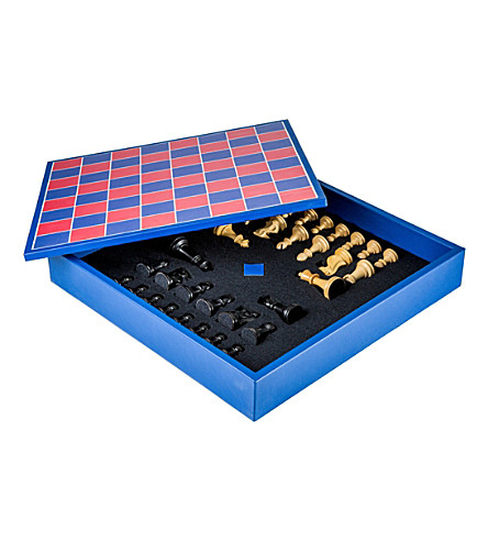 THE CONRAN SHOP Geoffrey Parker leather chess set (Red