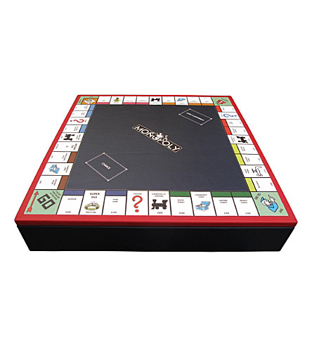 THE CONRAN SHOP Geoffrey Parker Monopoly leather board game (Red