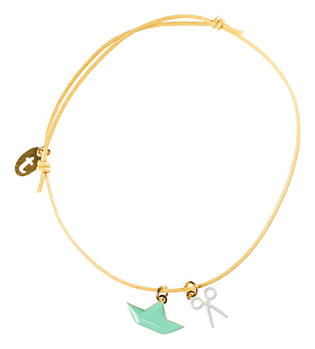THE CONRAN SHOP Paper boat bracelet