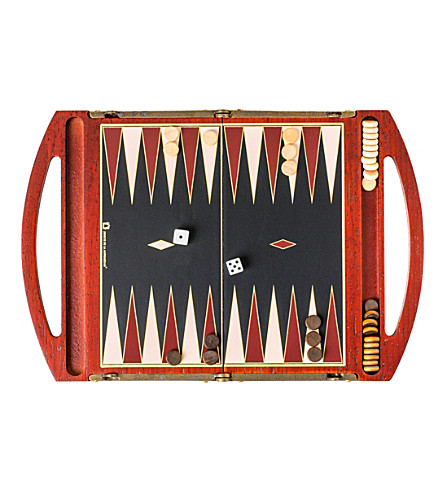 THE CONRAN SHOP Travel backgammon set (Brown