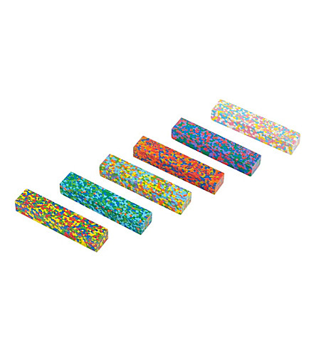 THE CONRAN SHOP Set of six Dot Flower crayons