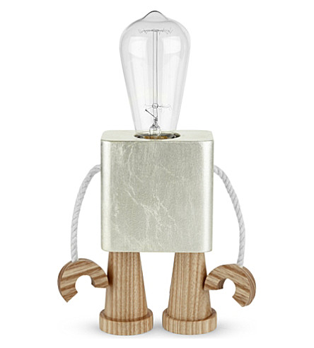 THE CONRAN SHOP Matt Pugh robot light (Silver