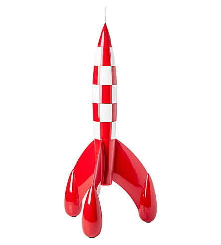 THE CONRAN SHOP Tintin model rocket 72cm (None/clear