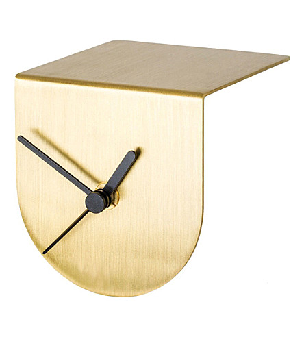 THE CONRAN SHOP David Weatherhead brass half clock