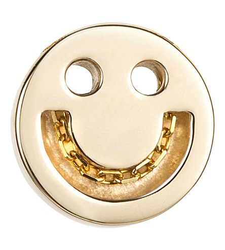 THE CONRAN SHOP Happy 18ct gold vermeil chain studs