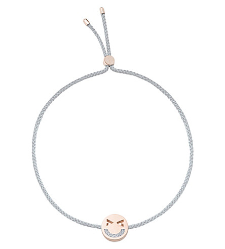 THE CONRAN SHOP Silk and 18ct gold Merry bracelet