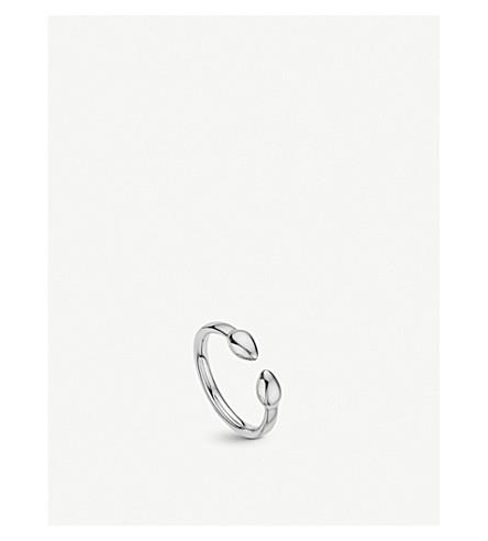 MONICA VINADER Fiji Bud sterling silver stacking ring