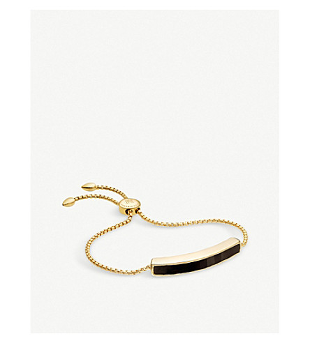 MONICA VINADER Baja 18ct gold-plated vermeil and black onyx bracelet