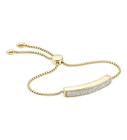 MONICA VINADER Baja diamond friendship bracelet