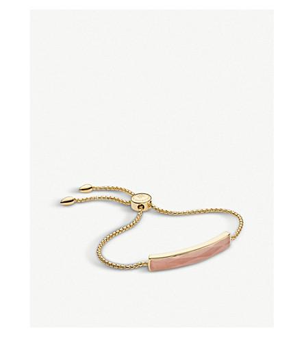 MONICA VINADER Baja 18ct yellow-gold vermeil and pink quartz bracelet