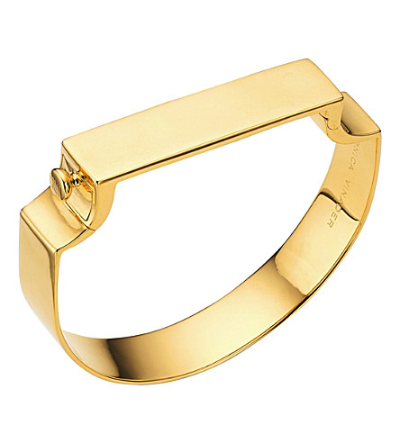 MONICA VINADER signature 18CT gold-plated bangle