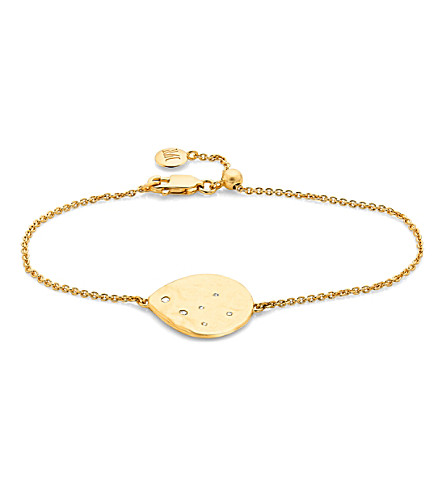 MONICA VINADER Siren 18ct gold plated vermeil and white topaz scatter bracelet