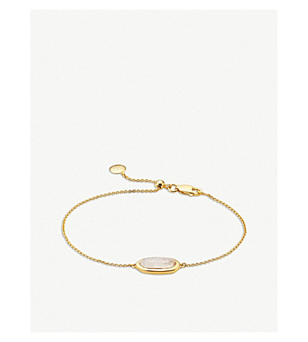 MONICA VINADER Vega yellow gold-plated moonstone bracelet (Gold
