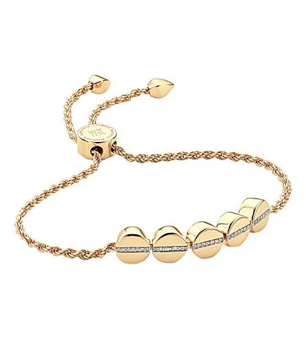 MONICA VINADER 线珠18ct 黄色镀金和铺钻石手链