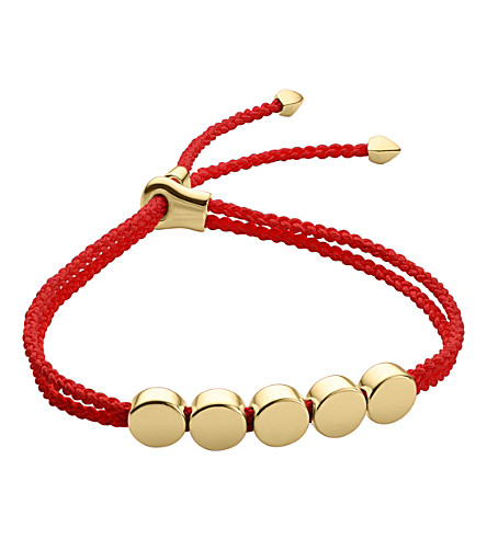 MONICA VINADER Linear Bead 18ct gold-plated friendship bracelet
