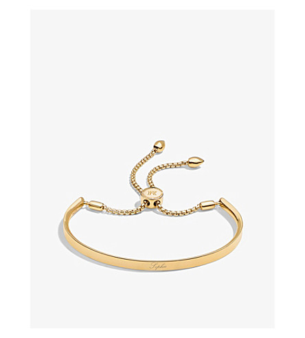 MONICA VINADER Fiji 18ct gold-plated chain bracelet (Gold