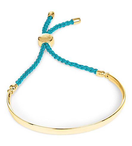MONICA VINADER Fiji 18ct gold-plated friendship bracelet (Gold turquoise