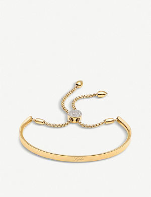 MONICA VINADER Fiji 18ct gold-plated and pavé-diamond friendship bracelet