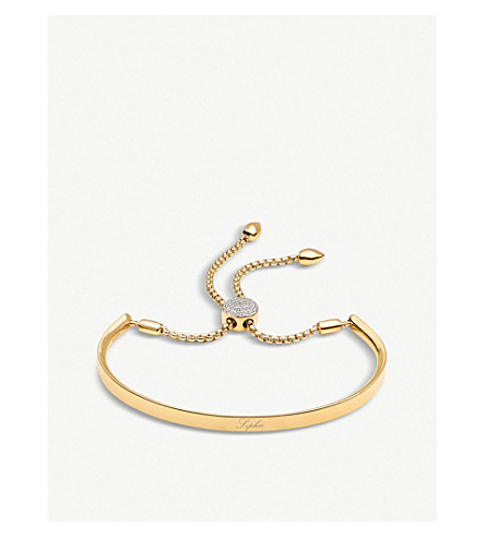MONICA VINADER Fiji 18ct gold-plated and pavé-diamond friendship bracelet (Gold+diamond