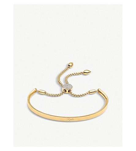MONICA VINADER 斐济18ct 镀金和铺金刚石 Friendship 手链 (金 + 金刚石