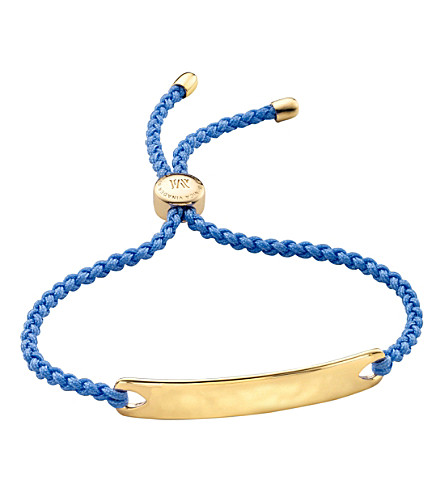 MONICA VINADER Havana 18ct gold-plated friendship bracelet