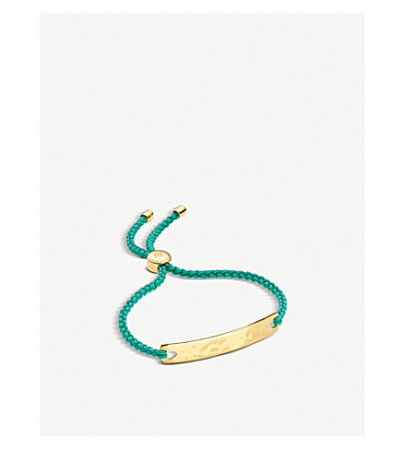 MONICA VINADER Havana 18 carat gold plated vermeil friendship bracelet