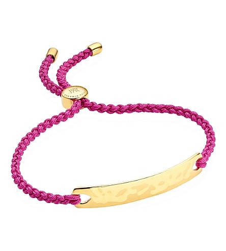 MONICA VINADER Havana 18 carat rose gold plated vermeil friendship bracelet