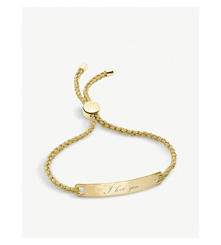 MONICA VINADER Havana 18ct gold-plated friendship bracelet (Gold+gold+metallica
