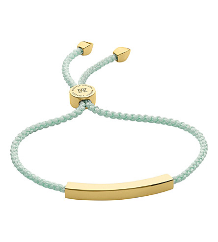 MONICA VINADER Linear 18 carat gold plated vermeil friendship bracelet