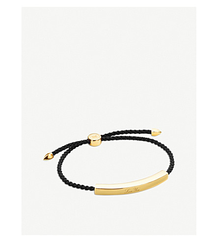 MONICA VINADER Linear 18ct gold-plated friendship bracelet