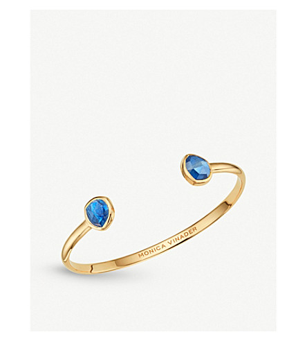 MONICA VINADER Siren slim 18ct gold-vermeil cuff (Blue