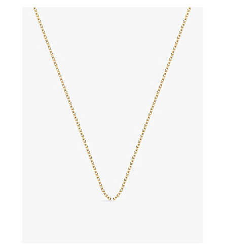 MONICA VINADER 18ct yellow-gold plated rolo neck chain