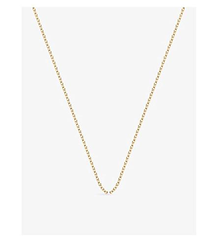 MONICA VINADER 18ct 黄镀金罗洛颈链