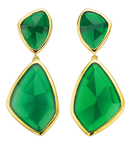 MONICA VINADER Siren 18ct gold-plated onyx cocktail earrings