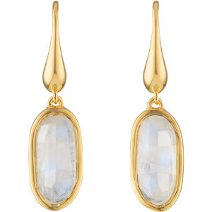 Vega 18ct gold-plated vermeil moonstone earrings