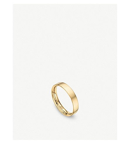 MONICA VINADER Fiji 18ct gold band stacking ring