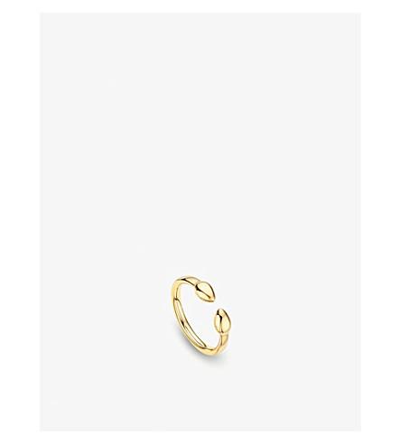 MONICA VINADER Fiji 18ct gold bud stacking ring